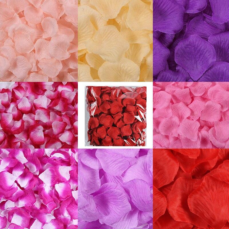 22000pcs/lot 5*5cm Artificial Silk Romantic Rose Petal Wedding Decorations Wedding Flower Rose Flower Wedding Carpet Decoration