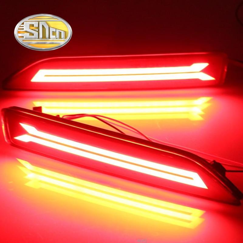 SNCN Multi-functions Car LED Rear Fog Lamp Brake Light Bumper Light Auto Decoration Lamp For Honda City Grace 2012 2013 2014