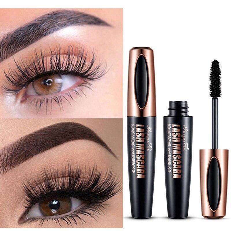 Waterproof Mascara For Eyelashes Long Lasting 4d Silk Fiber Eyelash Mascara Makeup Eye Mascara Black Extension Curling Extension