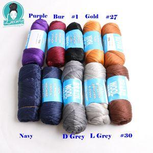 Image 2 - Braiding 14 번들을위한 럭셔리 번들 당 70g Brazilian wool hair low temprature 난연성 합성 섬유 상자 용 braids