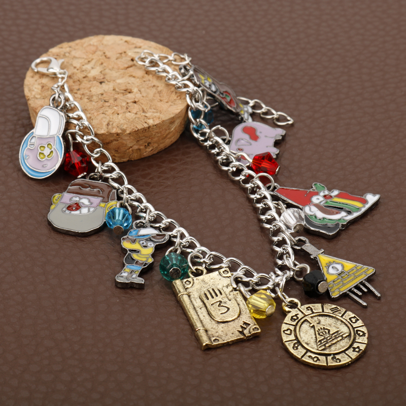 Jewelry & Accessories Sg Hot Anime Gravity Falls Bill Cipher Zodiac Mabel Waddles Pig Bracelets Journal 3 Dipper Charms Bangles Lady Fashion Jewelry