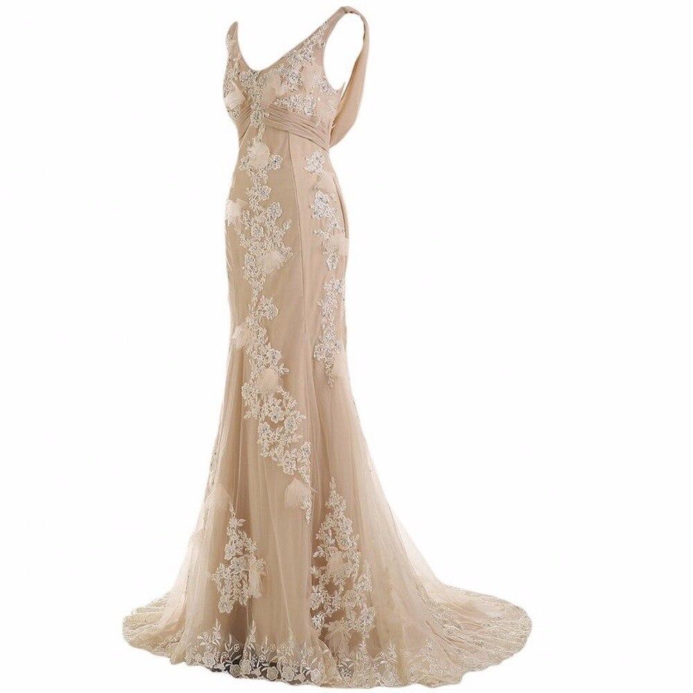 ANTI 2018 Uzun Örgün Abiye abiye Zarif Elbisesi Parti Vestido De - Özel Günler Için Elbise - Fotoğraf 3