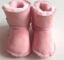 2016 Warm Pink Winter Boot Baby Girl Newborn Shoes Baby Moccasins With Fur Soft Soled Baby Shoes Newborn Baby Kids Boys Booties