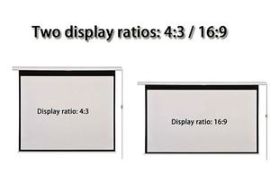 Image 2 - HD ウォールマウント投影電動スクリーン 60 72 84 100 インチ 16:9 または 4:3 プロジェクターホーム Theate ガラス繊維 1.2 ゲイン