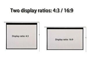 Image 2 - HD الحائط الإسقاط الكهربائية شاشة 60 72 84 100 بوصة 16:9 أو 4:3 العارض شاشة للمنزل Theate glassfiber 1.2 مكاسب