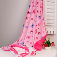 New Double Layer Fleece Baby Blankets Spring Autumn Cartoon Thicken Sleeping Bedding Blanket Infant Swaddle  Wrap For Newborns