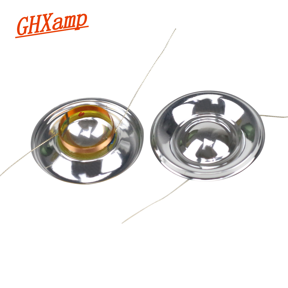 GHXAMP 14 Core Surrounded Speaker Voice Coil 8OHM Small Ultra Treble Voice Coil  Silver White Film 13.28mm Core 2PCS
