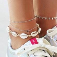 Vintage Boho Shell Jewelry Multilayer Anklets For Women Bracelet Leg 2019 DIY Accessories Wholesale