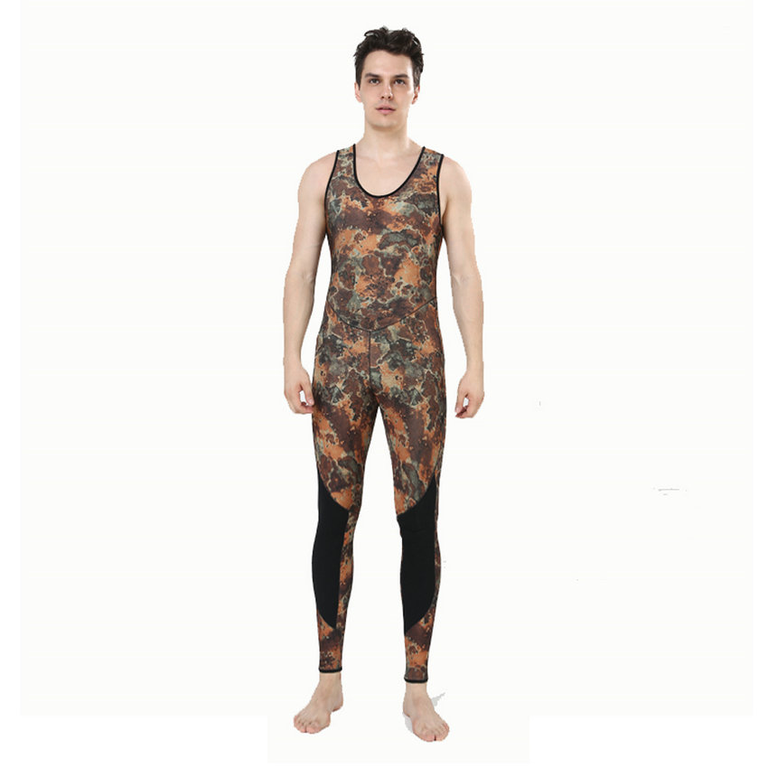 Top quality new 7mm CR neoprene diving suit camo spearfishing wetsuit (9)