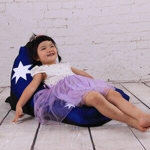 Image 2 - LEVMOON זאק אוסטרליה דגל מושב כיסא ספת פוף מיטת שקית שעועית הפופים כיסוי ללא מילוי מקורה