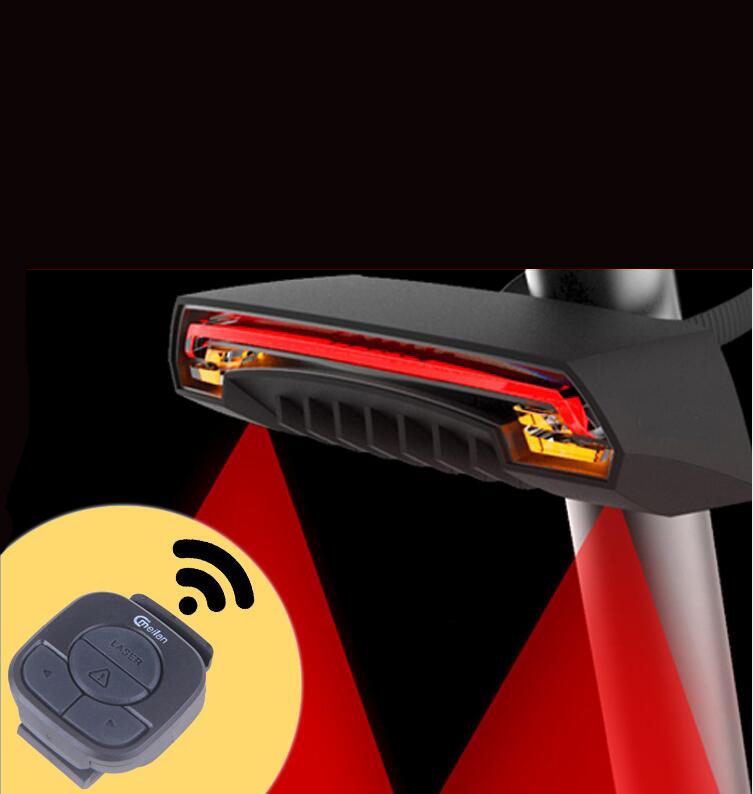 Waterproof  Bike Tail Lights Lamp Led Cycling Taillight Handlebar Back Rear Light Bicycle laser taillights Bicycle Accessories inner tail lamp back lamp taillight for great wall hover h2 06 16