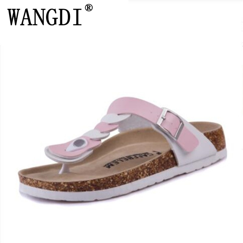 New 2016 Women Sandals Fashion Shoes Flip Flops Slippers Beach Cork Sandals Summer Slippers Rivets Slides Plus Size 35-43 fashion women slippers flip flops summer beach cork shoes slides girls flats sandals casual shoes mixed colors plus size 35 43