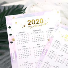 2020 Calendar Paper For Spiral Diary Isolated Page  A5 A6 1 Piece vihma page 1