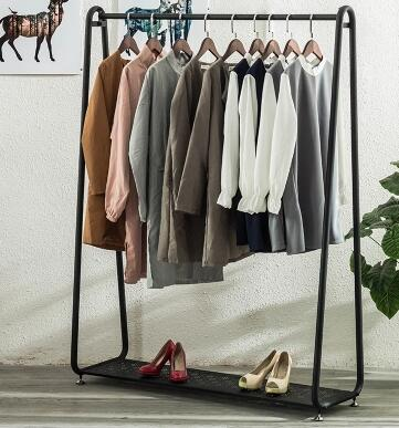 Vintage high end iron clothing racks. Clothing store shelves. Display rack.88
