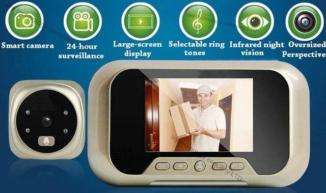 US $45.01 |3 pollice A CRISTALLI LIQUIDI Digital Gradi Peephole Camera  Viewer Porta Fotocamera Occhio Magico Campanello Spioncino Telecamera a  Colori ...