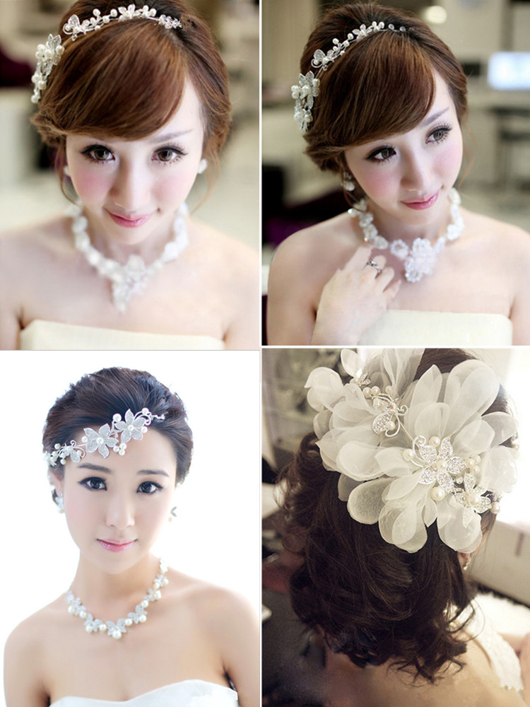 HTB1vqF0PVXXXXXOaXXXq6xXFXXXg Luxury Silver/Gold Rhinestone Pearl Jewel Flower Hair Accessory For Women - 2 Colors