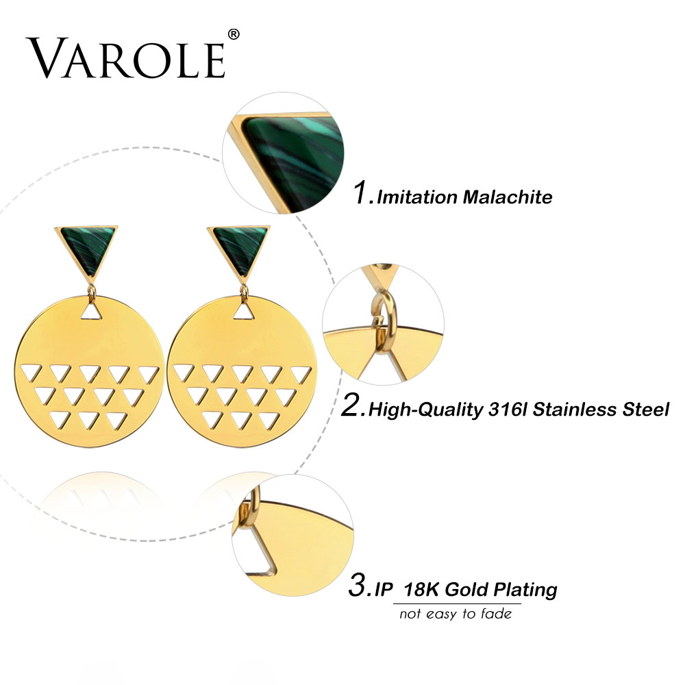VAROLE Best Gift 2 Colors Enamel Antlers Earrings Trendy Drop Earring Gold Color Earings For Women Jewelry Brincos Longos