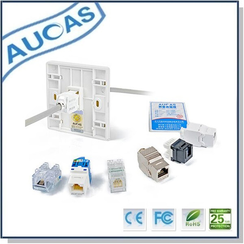 Aucas 4 հատ 1 Պորտ Դեմքի ափսեի - Համակարգչային մալուխներ և միակցիչներ - Լուսանկար 5