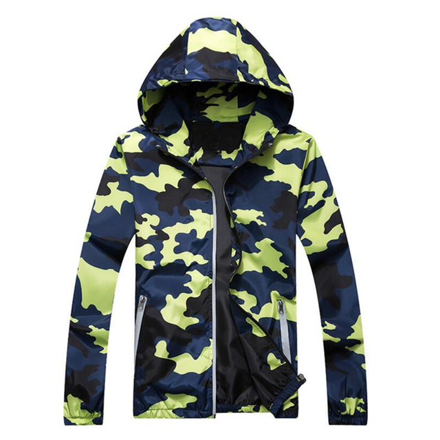 Plus Size 5XL Spring Autumn Jacket Mens Casual Camouflage Hoodie Jackets And Coats Clothes Men's Windbreaker Coat Male Outwear  3