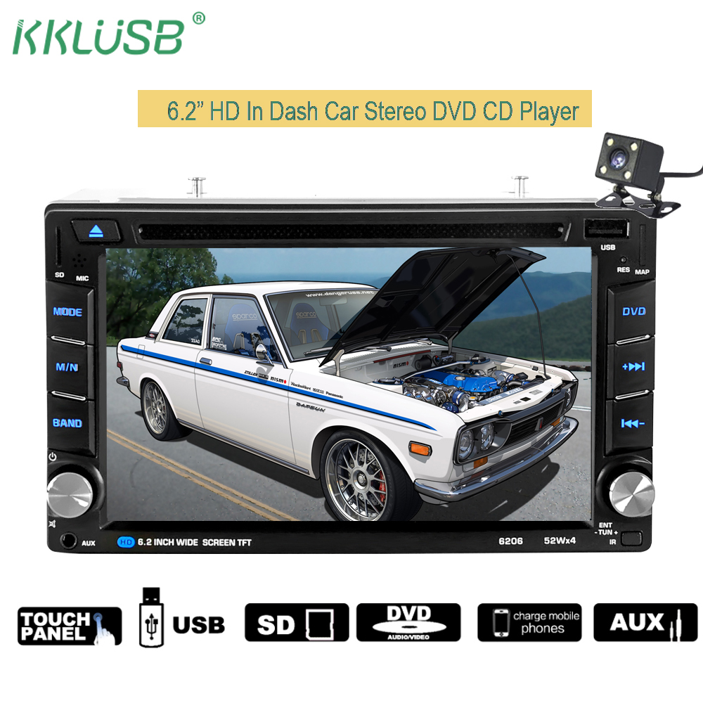 Autoradio 2 din HD 7 Touch Screen Bluetooth Car Stereo Support CD/DVD+USB Charger Car Radio AUX IN TF MP5 Rear View Camera 7 hd bluetooth touch screen car gps stereo radio 2 din fm mp5 mp3 usb aux z825