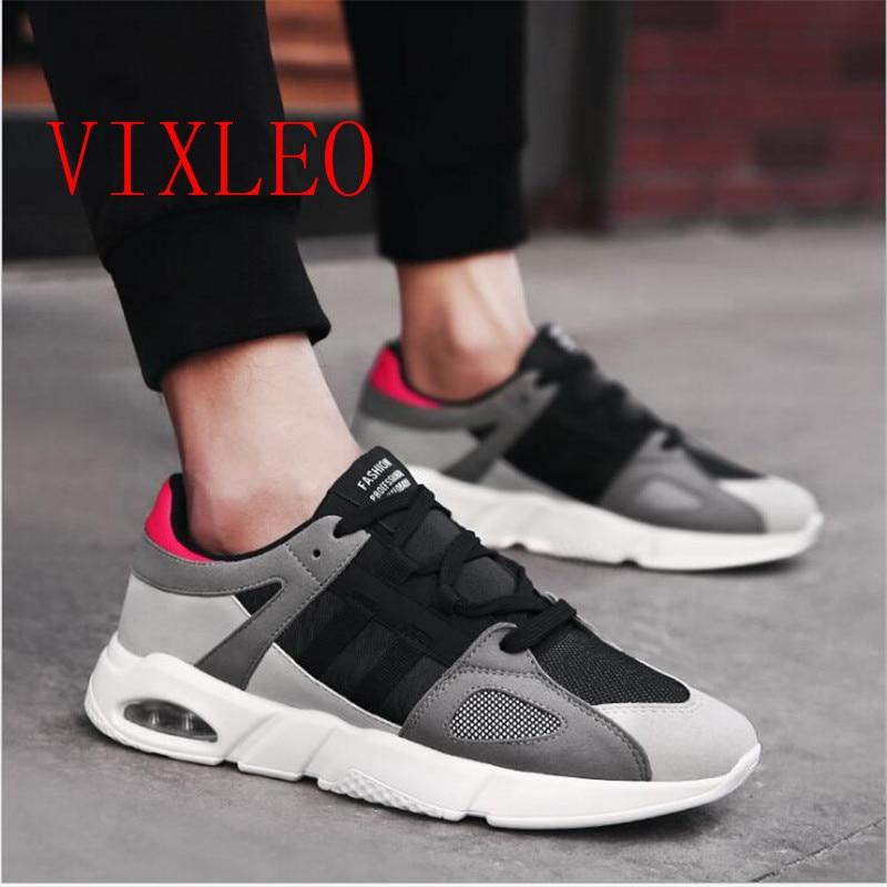 2018 Mens Casual Shoes Male Shoes Adult walk Tenis Feminino Men Krasovki Ultra-light Luxury Brand Air Size Leather Black 36-44