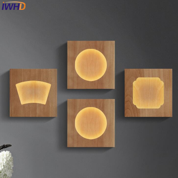 IWHD Wood Modern Wall Lamp LED Creative Square Wall Sconce Home Lighting Fixtures Fashion Bedroom Stair Light Fixtures Lamps бюстгальтер infinity lingerie infinity lingerie in013ewpes37