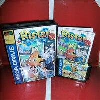 Ristar-De Shooting Star Japan Cover met doos en handleiding voor Sega MegaDrive Genesis Game Console 16 bit MD kaart