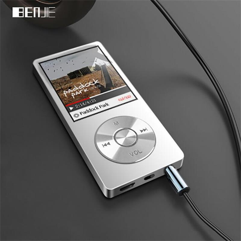 BENJIE K9 Original MP3 Music Player 8GB Metal 1.8 Screen Play 60h Lossless Sound FM Radio Voice Recorder MP3 Player Speaker