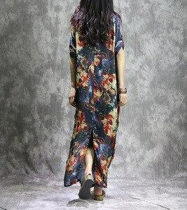 Image 5 - נשים מודפס אופנה קיץ 2 חתיכות חליפת שמלת (מחוץ ובתוך אפוד שמלת) גבירותיי Loose מודפס שמלות