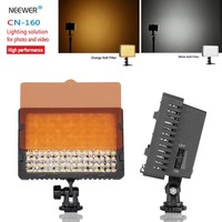 Neewer CN 160 160 LED Video Light on Camera Light for Canon Sony Panasonic Camcorder or DLSR Camerasor Digital Video Camcorder