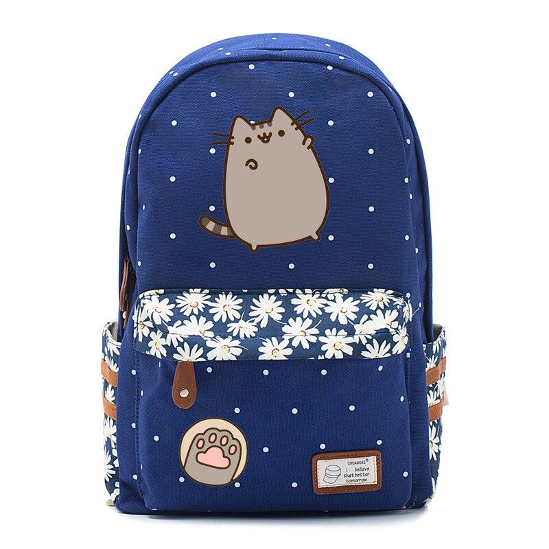 Fat Cat Mochila Canvas Bag Unicorn Backpack For Teenagers Girls Women School Travel Shoulder Bag High Quality Cute