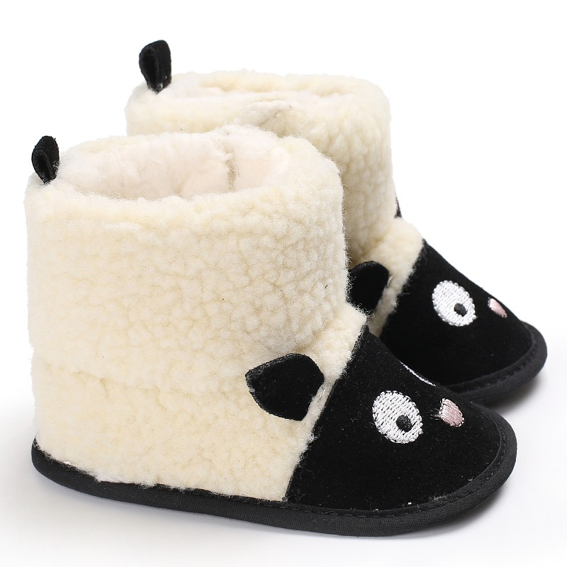 Newborn Baby Boys Girls Autumn Winter Soft Sole Warm Infant Toddler First Walker Prewalkers Cute Cartoon Shoes