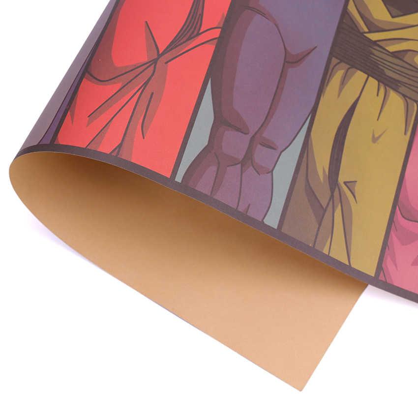 Галстук Лер Винтаж мультфильм Аниме Дракон мяч Плакат Бар детская комната Домашний декор комиксы Драконий жемчуг крафт-бумага живопись 70x39cm