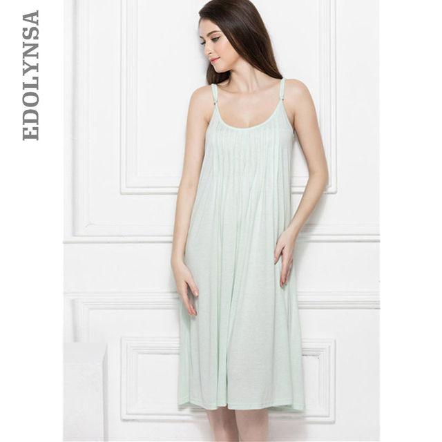 999b8aba0f2 Brief Nightgown Spaghetti Strap Backless White Cotton Sleepwear Blue  Sleeping Dress Sexy Comfy Boudoir Lingerie Honeymoon