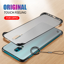 Frameless Transparent Matte Hard Case For OPPO Reno Reno 10X Zoom Phone Case For OPPO R17 R17 Pro With Finger Ring Cases frameless transparent matte hard case for oppo reno reno 10x zoom phone case for oppo r17 r17 pro with finger ring cases