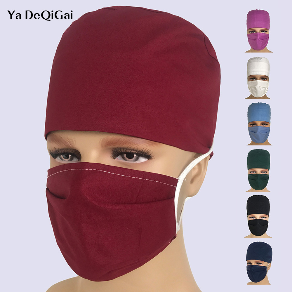 Hospital Surgical Medical Hats Nursing Scrubs Caps High Quality Breathable Cotton Doctor Pharmacy Dentistry Nurse Work Caps Sets