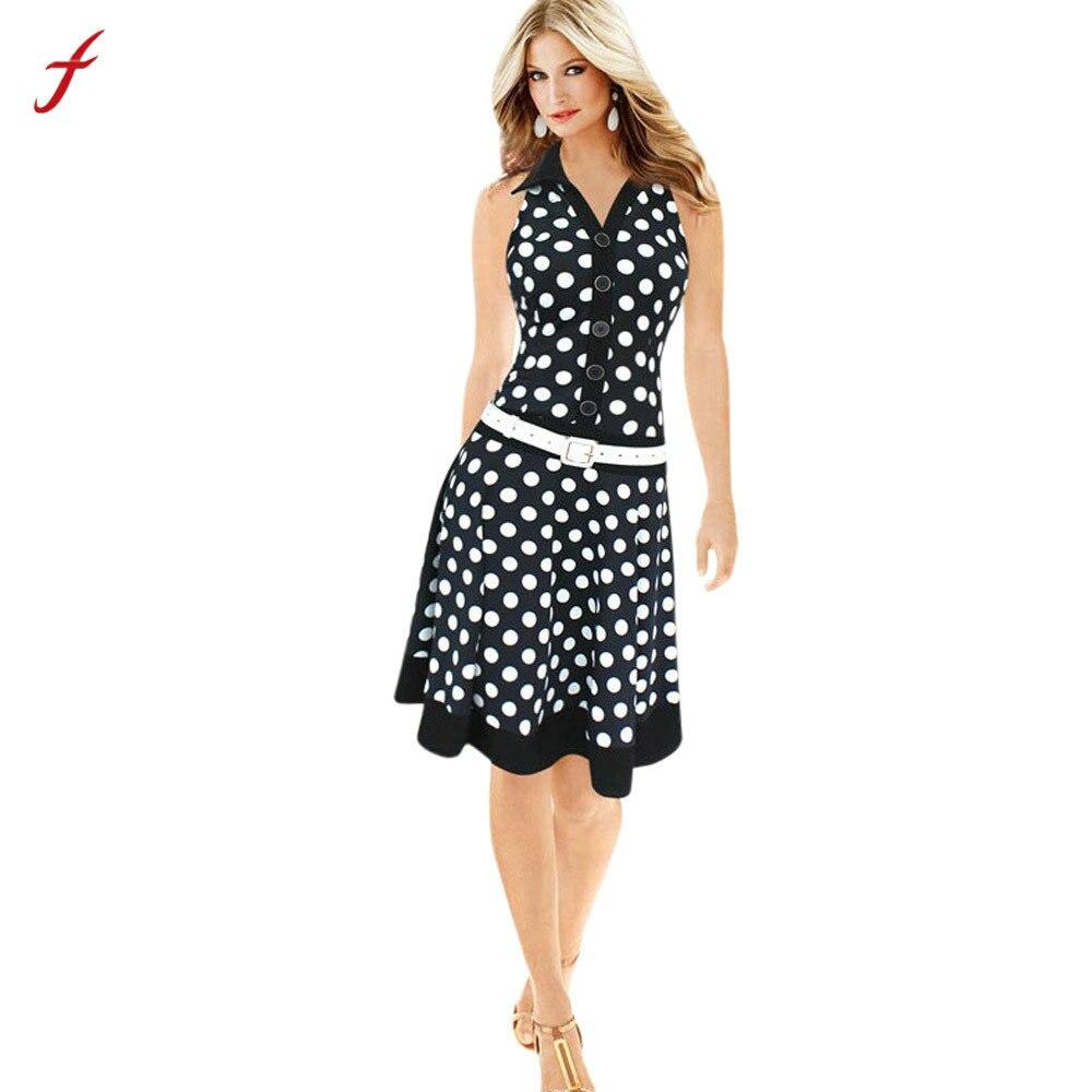 bfbf630e2e0 Элегантное повседневное женское синее платье больших размеров Новинка 2019 плюс  женское модное платье в горошек без