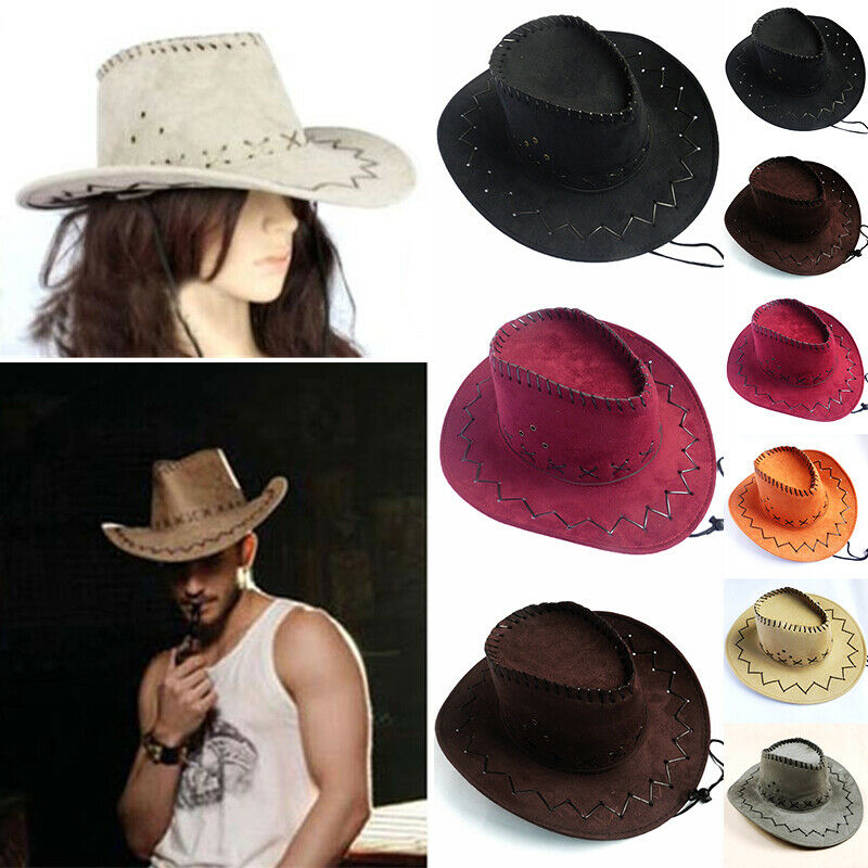 2019 New Arrival <font><b>Unisex</b></font> Womens Mens <font><b>Hat</b></font> Wild West Fancy Cowgirl <font><b>Cowboy</b></font> <font><b>Hats</b></font> Casual Solid Fashion Western Headwear Cap image
