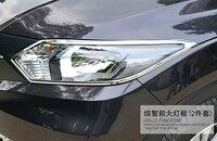For Honda hrv accessories chrome headlights lamp surrounds frame cover trim for honda vezel / HRV 2014 2015 2016 car styling 2PC