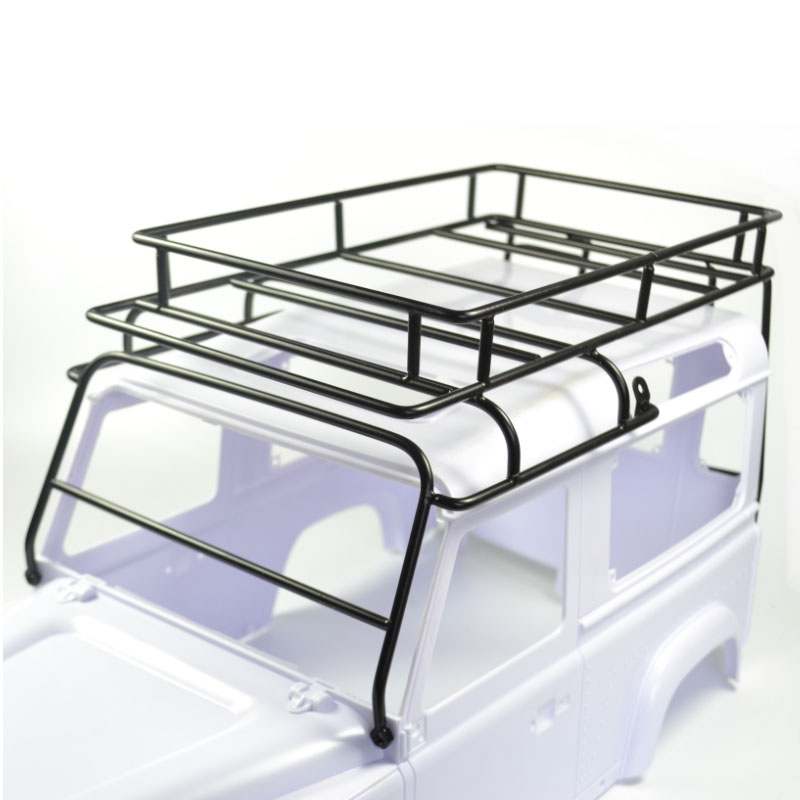 1/10 RC Defender Roof Rack Rock Crawler Luggage Tray Set for D90 D110 90046 1 10 scale metal luggage tray rolling cage roll rack set for crawler spare tire rack for tamiya cc01 scx10 rc4wd d90 d110