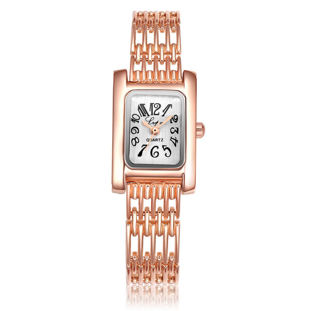 LVPAI Brand Watch Women Ladies Royal Fashion Square Dial Silver Stainless Steel Casual Bracelet Rhinestone Watches Mujer Relojes