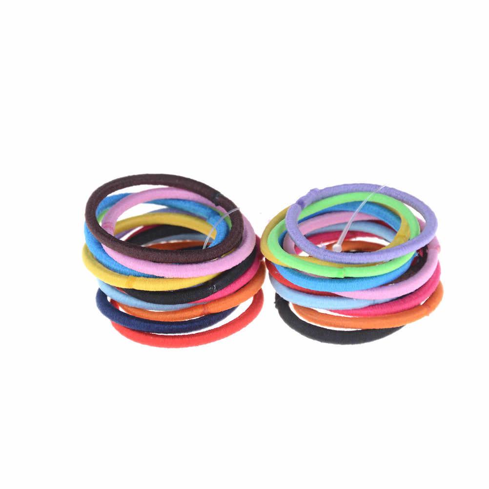 24 Uds. Mini anillo colorido bandas elásticas para el cabello lazo de goma para el cabello