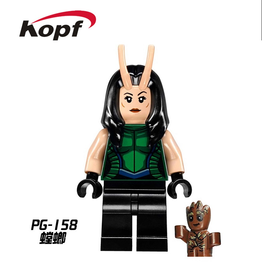 Building Blocks Guardians of the Galaxy Mantis the Destroyer Star Lord Super Heroes Model Bricks Children Gift Toys PG158