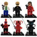 New Arrival 6PCS/SET Miraculous Ladybug blocks Toys Adrien Noir Agreste Cat Plastic Doll Christmas Gift