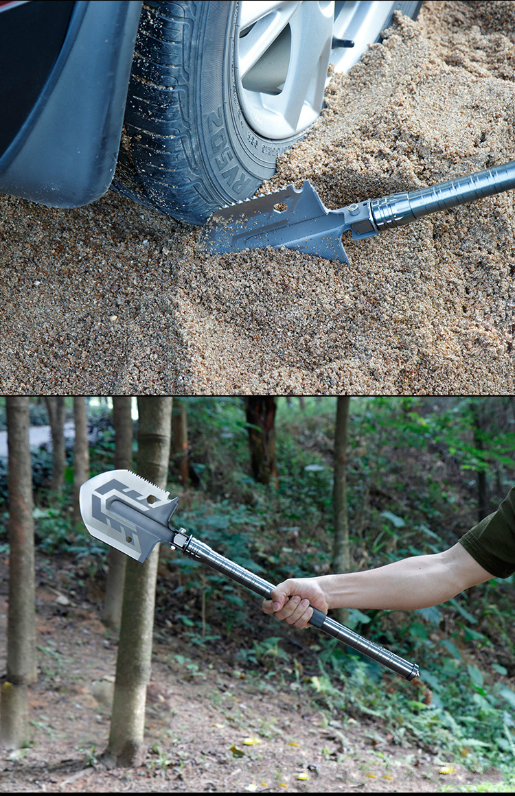 Outdoor Multi-purpose Shovel Garden Tools Folding Military Shovel Camping Defense Security Tools