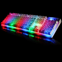 New Rainbow Colorful LED Backlight Mechanical Feeling Professional Advanced Gaming Keyboard Game Keyboard for Pro Gamer