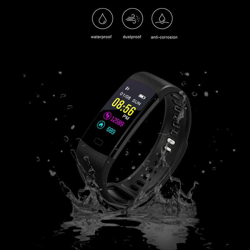 LIGE جديد ساعة ذكية الرجال النساء تشغيل تسلق ركوب متعددة الوظائف عداد الخطى معدل ضربات القلب ضغط الدم رصد Smartwatch + صندوق