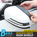 Estilo do carro espelho retrovisor chuva sobrancelha capa de chuva guarda neve viseira shild engrenagem Acessórios auto Para Mercedes Benz A/B/E classCLA/ABL/GLK