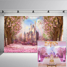 Mehofoto Photography Background Floral Sea Backdrop for Photo Studio Princess Fantasy Castle Rainbow photocall S-2711
