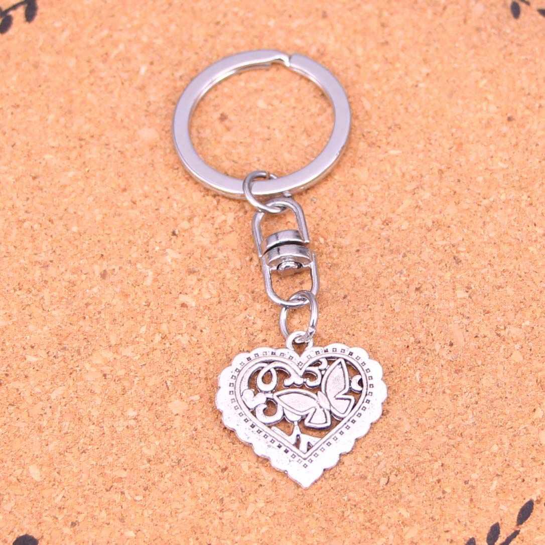 20Pcs borboleta coração Chaveiro Novidade Dispositivo Bugiganga Presente de Natal Lembrança Keychain Transporte da gota
